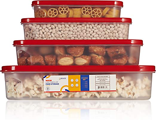 Sealco - Contenedores de almacenamiento de alimentos con tapas ...