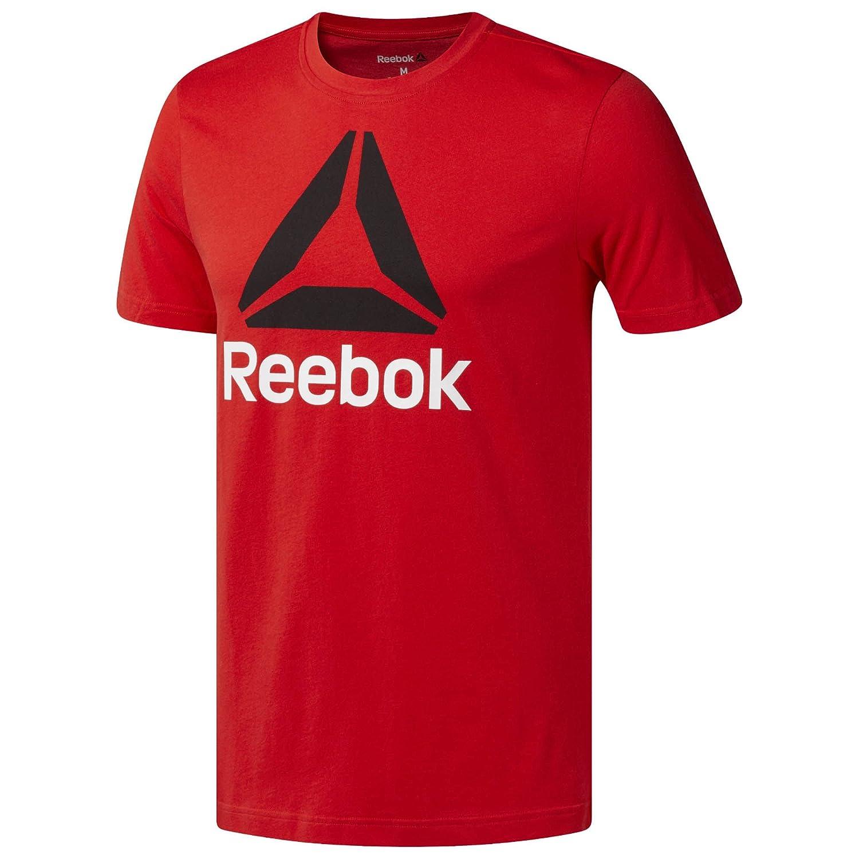 Reebok Cw5370 Qqr-Stacked, T-Shirt Uomo