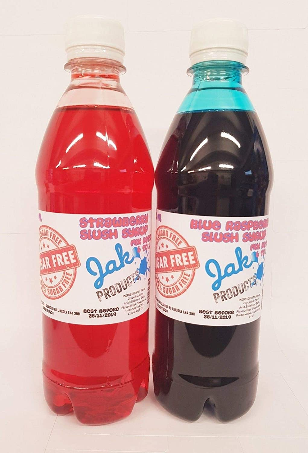 2 X 500ml Bottles of SUGAR FREE Slush Syrup - Snow cone Syrup - Cocktail  Syrup