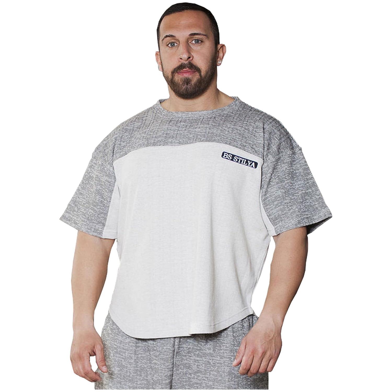STILYA Sportswear Herren Ragtop Trainings Shirt T-Shirt Bodybuilding 3078-ST …