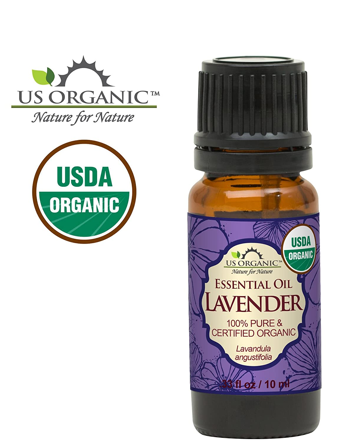 US Organic 100% Pure Lavender Essential Oil - USDA Cert Organic - 10 ml