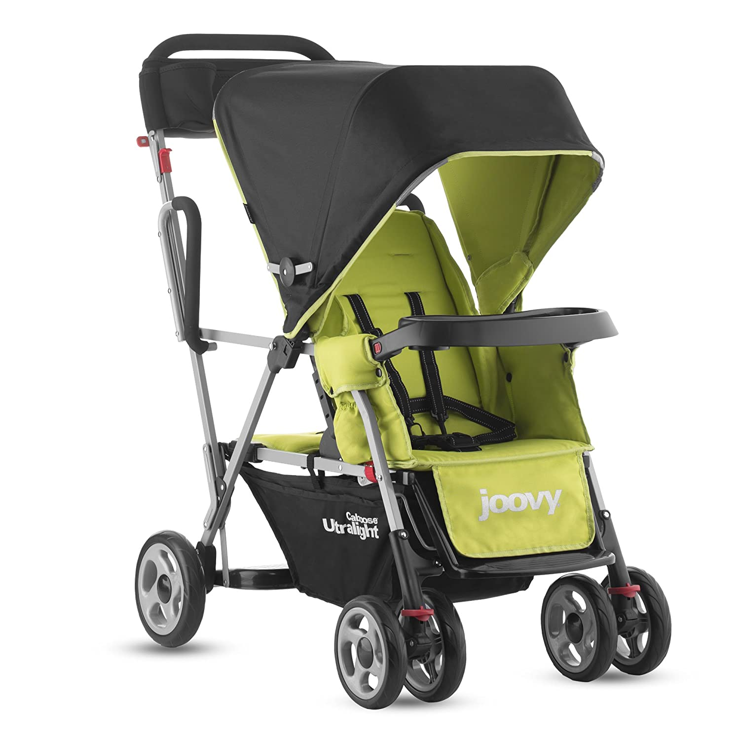 Joovy Caboose Ultralight Stand on Tandem Double Pushchair for Newborn Green Amazon Baby
