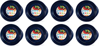 product image for Preserve Everyday BPA Free Dinner Plates Made from Recycled Plastic in the USA, Bulk Set of 32, Midnight Blue
