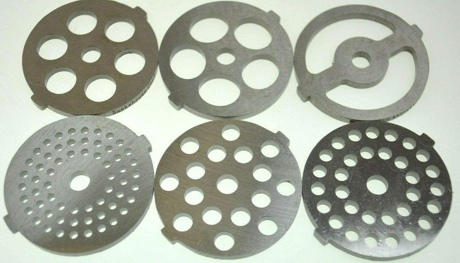 SIX new sizes of meat grinder plates for MOST Back to Basics, Rival and others 2 1/8