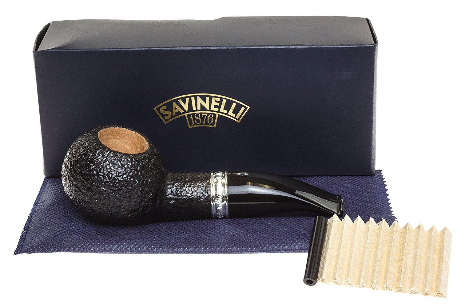 Savinelli Italian Tobacco Smoking Pipes, Trevi Rusticated 320 KS by Savinelli