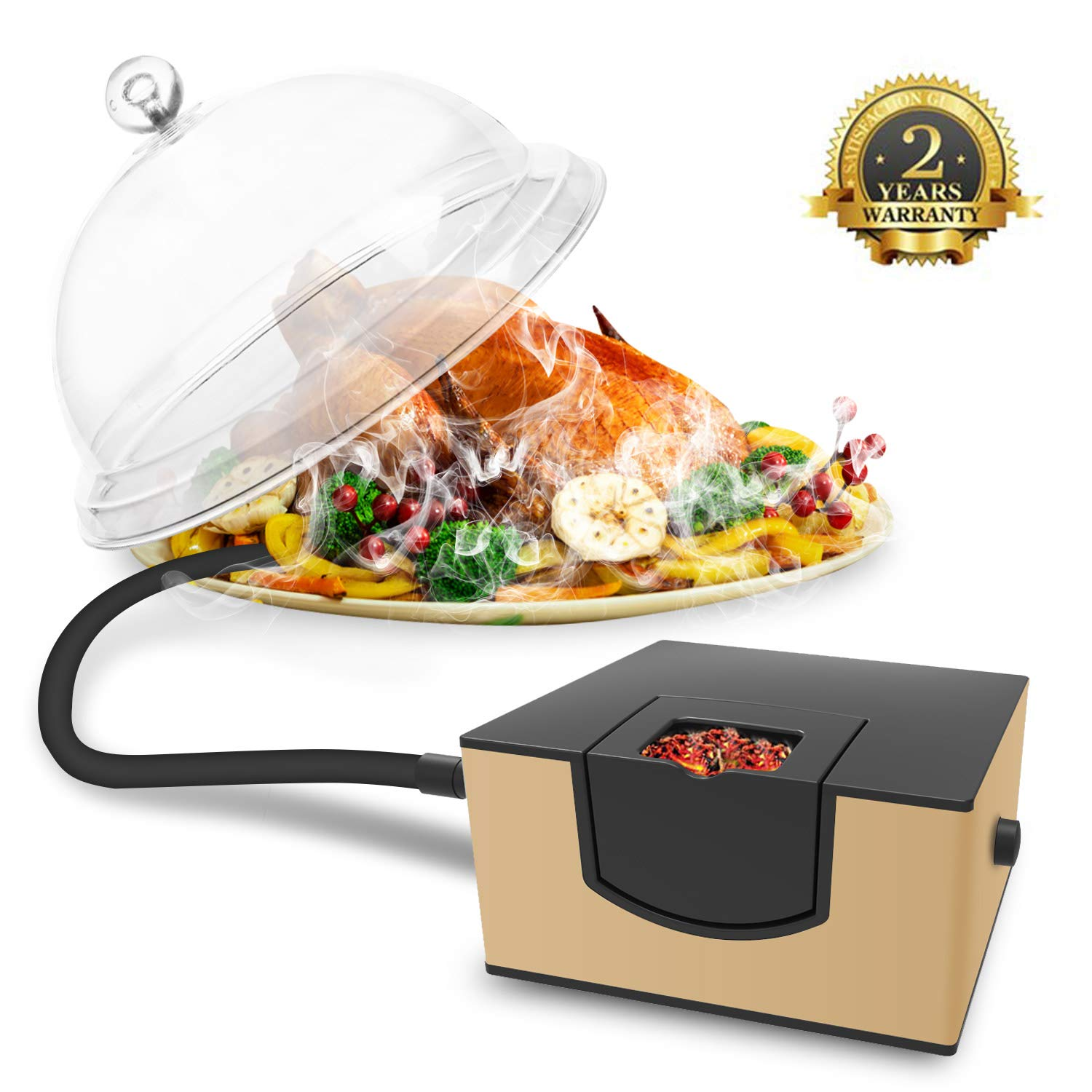 Kaven Smoking Gun Handheld Smoker Food Smoker For Meat, Veggies, BBQ, Sous Vide, Fruit, Cocktail,Cheese(Gold)