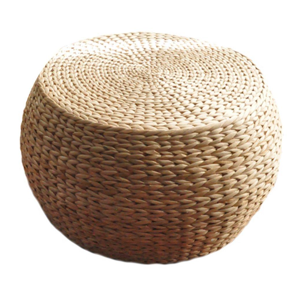 QI FANG BUSINESS Accessori arredamento Scarpiera circolare Sgabello per divano Facile da spostare Sgabello Tavolino Futon Tappetino Facile da pulire (Color : Wood color, Size : Diameter31/12inch)