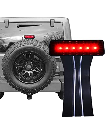 OMOTOR LED Third Brake Lights Tail Lights w/Smoke Lens High Mount Stop Lights for