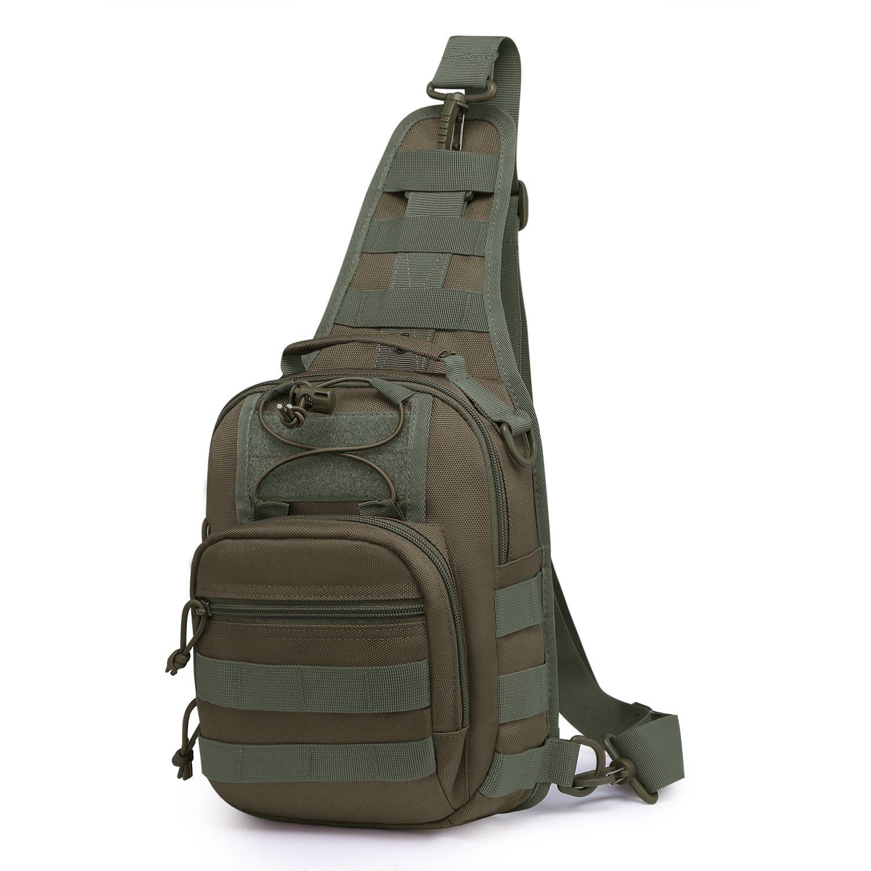 Mardingtop Sac Poitrine Sac d'Epaule Militaire Tactical Molle Sacoche Sac Bandoulière pour la Randonnée Trekking Camping Voyage Multi-Usages