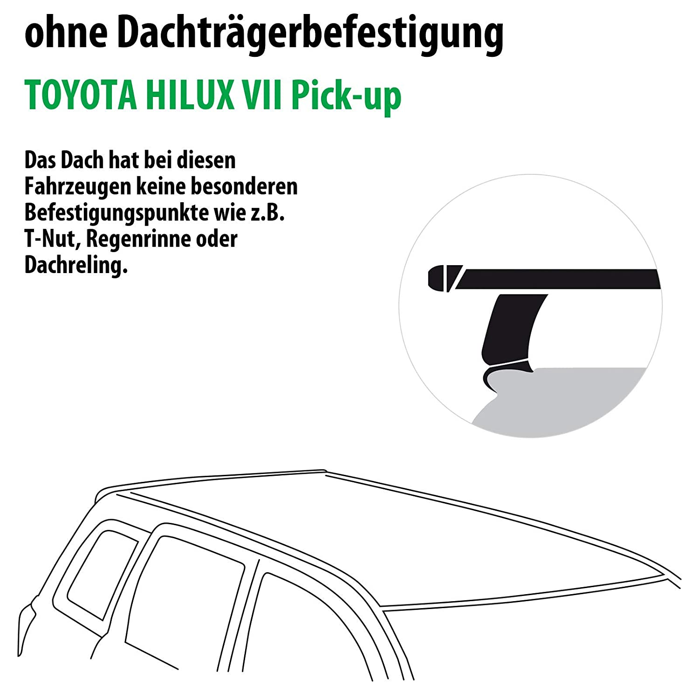 Rameder Komplettsatz Dachtr/äger Tema f/ür Toyota HILUX VII Pick-up 118819-06889-1