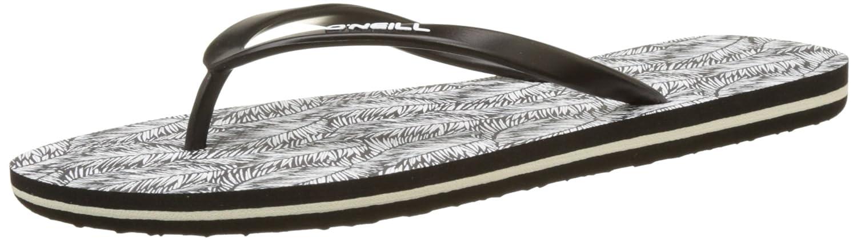 O'Neill FW Printed Flip Flop 7A9526, Zapatos de Playa y Piscina para Mujer, Negro (Black AOP 9910 9910), 37 EU