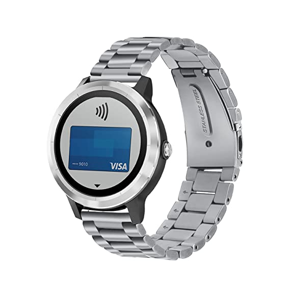 990aebaa9 Amazon.com: IVSO Garmin Vivoactive 3 Wristband – Metal Bracelet ...