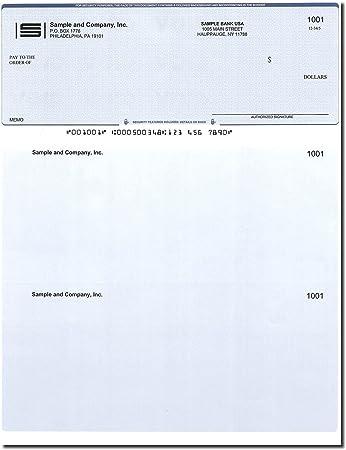 Compatible for QuickBooks 300 Printed Computer Checks Computer Checks Check on Top
