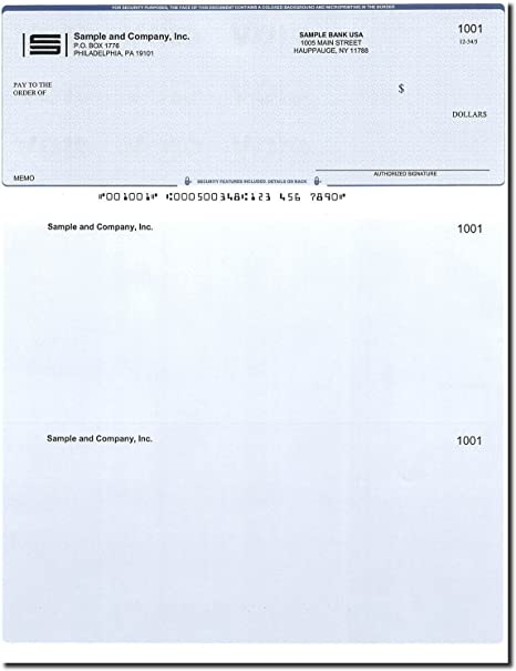 image regarding Printable Checks for Quickbooks identify 500 Computer system Assessments upon Best - Released - Appropriate for QuickBooks - Blue Diamond