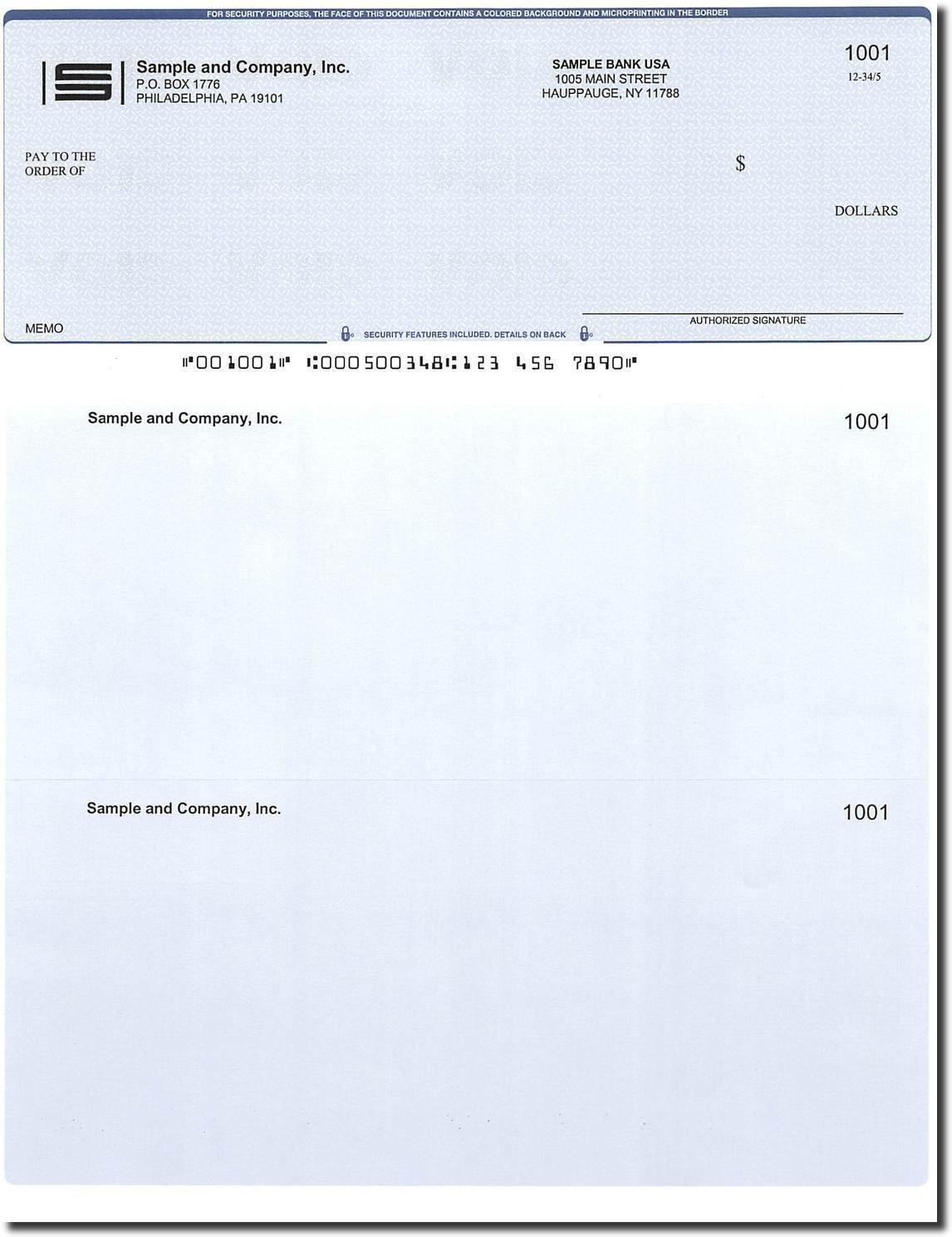 Computer Checks - 100 Printed Laser Computer Voucher Checks - Compatible for QuickBooks