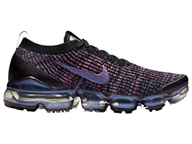 8dfd41eb320d2 Nike Women s Air Vapormax Flyknit 3 Black Racer Blue Laser Fuchsia Nylon Running  Shoes
