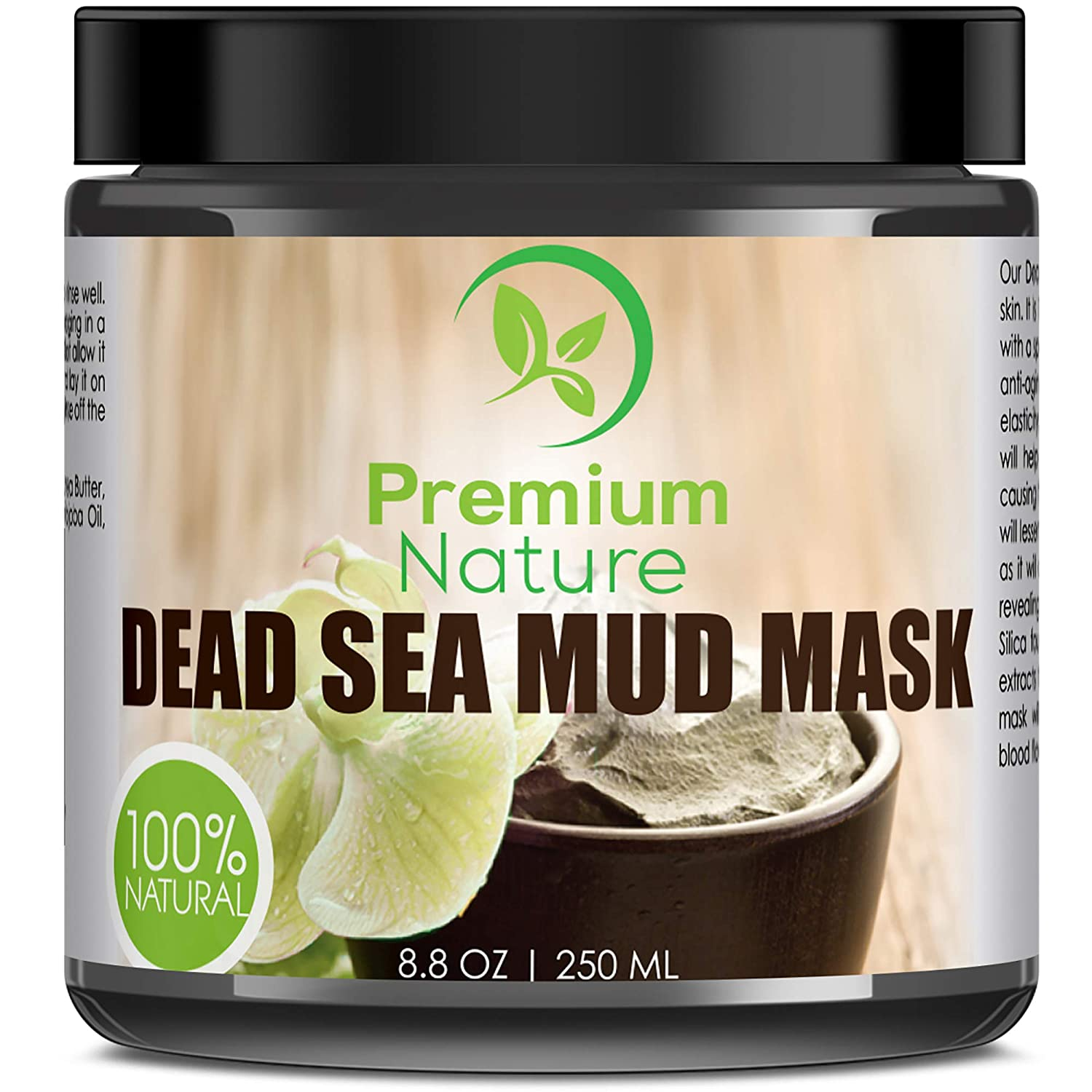 Dead Sea Mud Face Mask - Blackhead Remover Detox Deep cleaning Pores Minimizer facemasks Hydrating Facial Cleanser Wash Oily Dry Skin Care Control Acne Treatment Natural Women Mens Products Limited Edition 8.8 oz Premium Nature Dead Sea Mud Mask