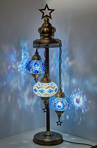 Turkish Moroccan Mosaic Glass Handmade Tiffany Floor Lamp Light