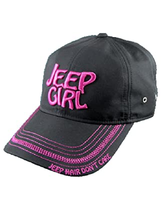 Amazon.com  Jeep Girl Black Pink Cap  Clothing dcfcbed9bed
