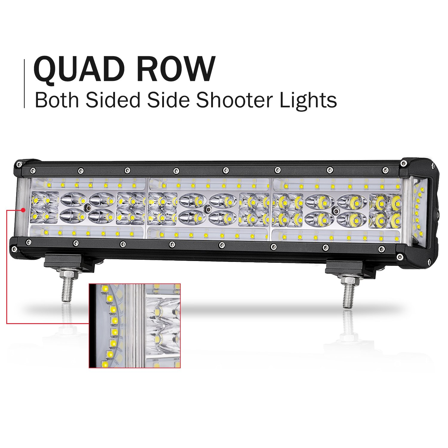 Top 8 Led Lights For Sale 2018 Smart Home Devices White Flood Lamp Circuit B2b Electronic Components 4 Review Light Bar Offroadtown 12 Inch 200w Quad Row Side Shooter Cree Spot Combo Beam Driving Fog Work