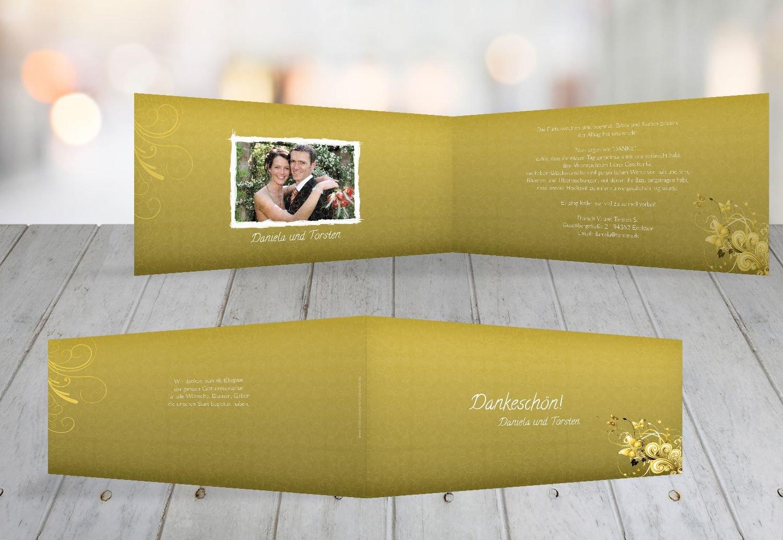Kartenparadies Danksagung für Hochzeitsgeschenke Hochzeit Danke Din Din Din Liebeswunder, hochwertige Danksagungskarte Hochzeitsglückwünsche inklusive Umschläge   10 Karten - (Format  215x105 mm) Farbe  DunkelGelb B01N9U8Z65 | Clever und prakt df7fbd