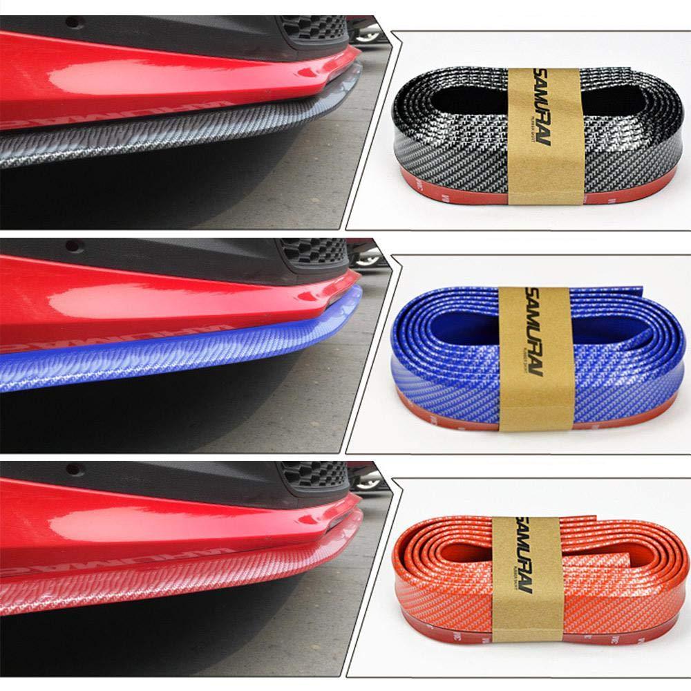 3 Colori paraurti Anteriore in Fibra di Carbonio protettore del Labbro paraurti Adesivo in Gomma Splitter MOGOI Spoiler del paraurti Anteriore Auto Universale