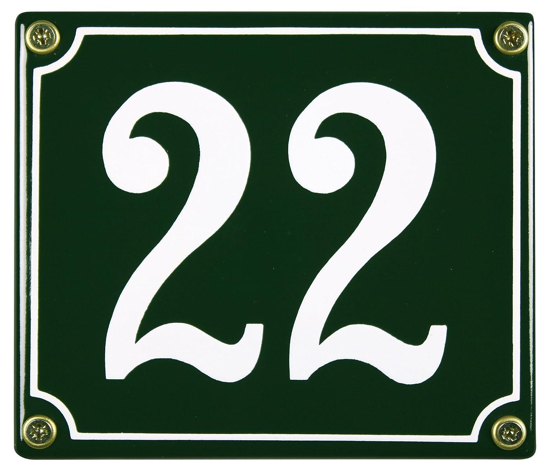 Buddel bini hn-144 - Número de mal tiempo casa de esmalte de placas 22 12 x 14 cm, disponibles en stock, verde Buddel-Bini