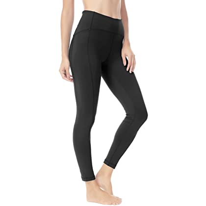 ca7e256e62b0b Queenie Ke Women Yoga Leggings Nine Pants Power Flex High Waist Gym Running  Tights Size M Color Black