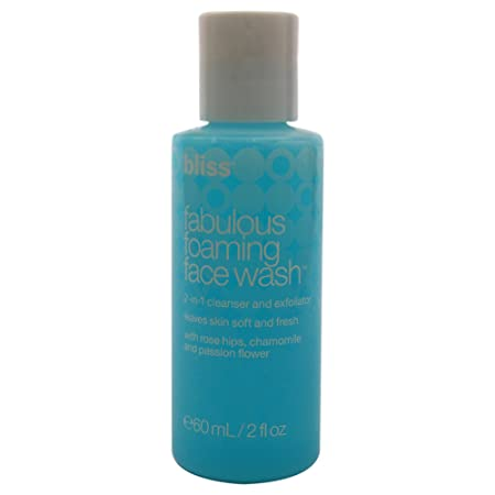 bliss Fabulous Foaming Face Wash Ideal for All Skin Types Oil Free Two in One Facial Cleanser Exfoliator Perfect for Gentle, Everyday Use for Women Men Fresh Fruity Scent