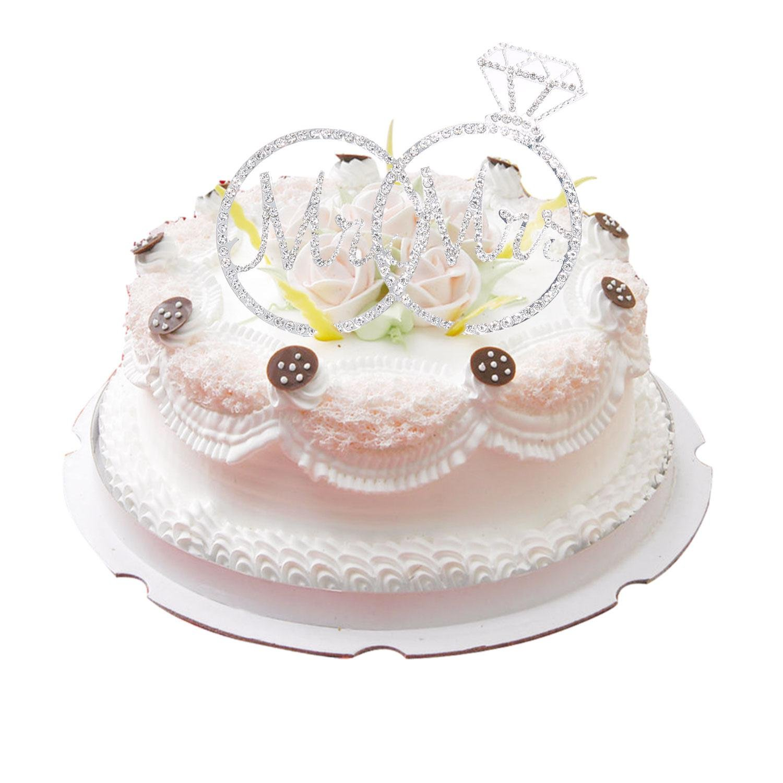 Amazon Aolvo Mr Mrs Silver Rhinestone Sparking Glitter Wedding Rings Cake Topper Home Kitchen: Cake Topper Wedding Silver Diamond Ring At Websimilar.org