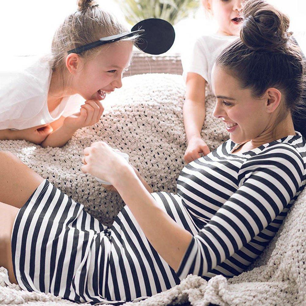 STRIR Vestido de Lactancia Maternidad de Noche Camis/ón Mujeres Embarazadas Ropa de Dormir Premam/á Pijama Verano Raya