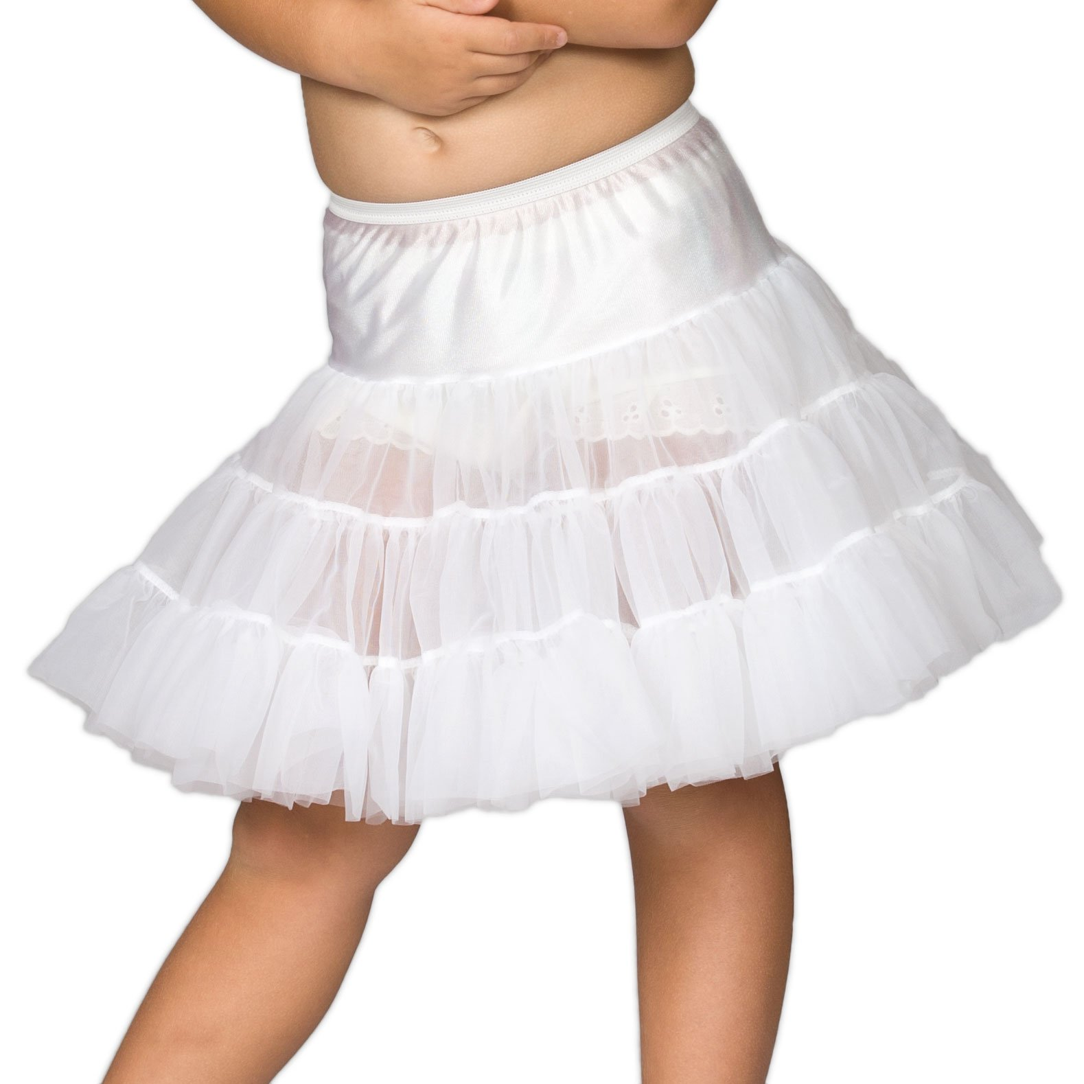 Laura Dare Kids Bouffant Slip (Toddler/Little Kids/Big Kids) White - SIZE 5