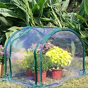 Mini Invernadero De Jardín Resistente A La Lluvia Y Cálido Invernadero Pequeño Invernadero Invernadero Orgánico Adecuado para Brotes Y Plántulas De Jardinería Al Aire Libre, 60 * 70 * 58cm: Amazon.es: Jardín