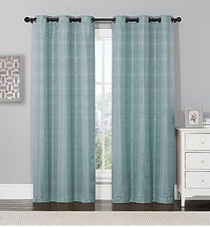 Curtains Ideas curtain panels 72 length : Amazon.com: Chris Madden Mystique Blackout Grommet Panel 72 ...