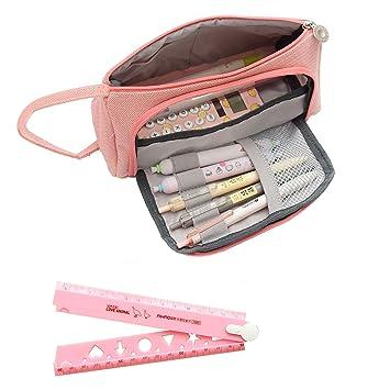 Zipit - Estuche para lápices, color rosa, duradero, tamaño ...