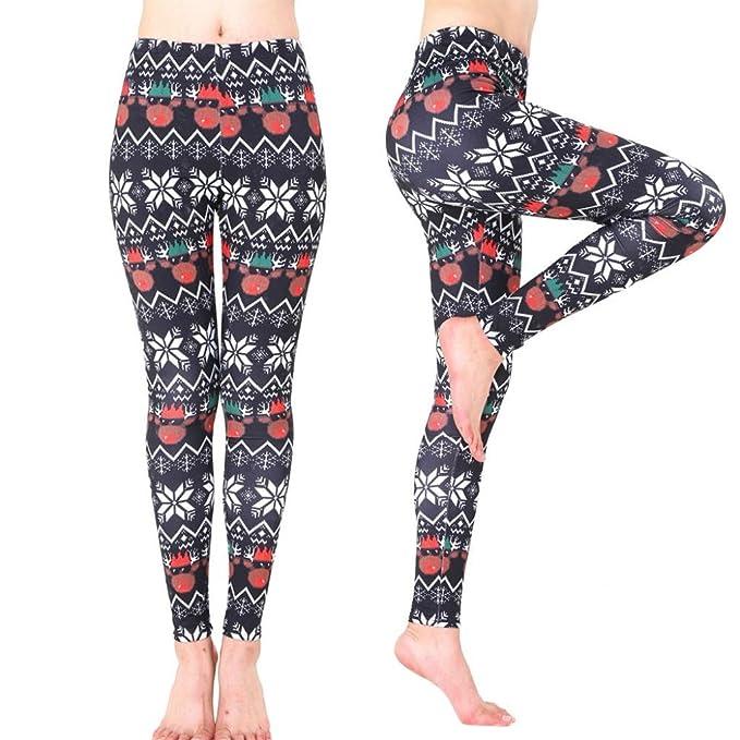 Amazon.com : Sinwo Women Xmas Sports Pants Gym Yoga Running ...