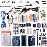 kuman K31 Kit de Inicio Uno de aprendizaje con pantalla LCD y una fuente de alimentación dedicada adaptador de 9 V 1 para el Arduino +cable USB