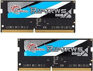 G.Skill Ripjaws 8GB (2 x 4GB) 260-Pin DDR4 SO-DIMM DDR4 2400 (PC4 19200) Laptop Memory Model F4-2400C16D-8GRS