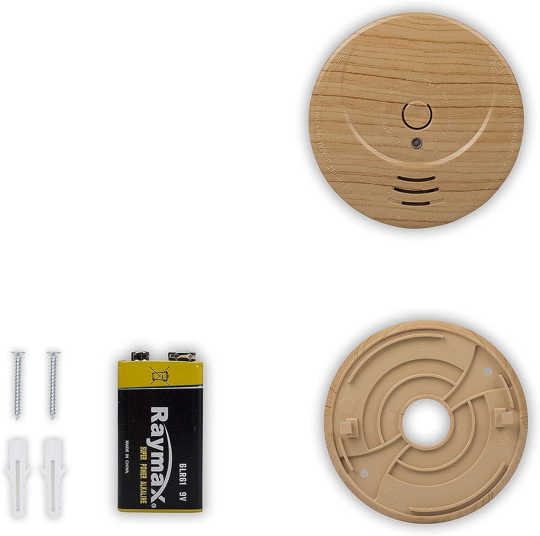 Smartwares RM149H TUV Certified 5 Year Battery Smoke Detector Wood