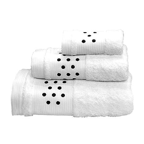 Lunares Toallas De Baño De – Juego de 3 piezas – Toalla de mano, toalla