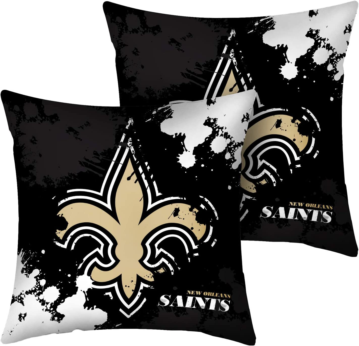 CANDICE Football Team Super Bowl Throw Pillow Covers Pillow Cases Decorative Pillowcase Protecter with Zipper 2 Pcs Without Insert