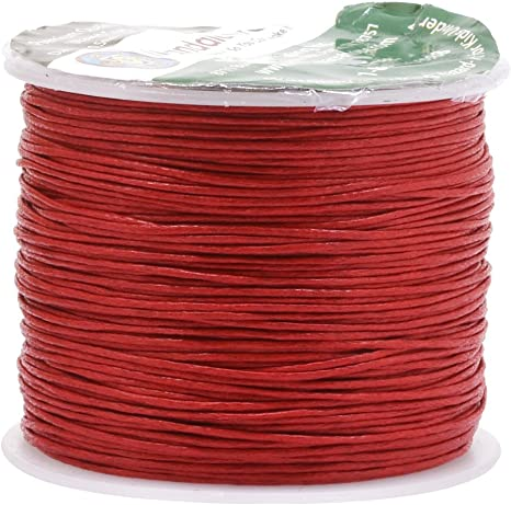 10 Yards Genuine Red Natural Round Cotton Waxed Cord-Jewelry Supplies