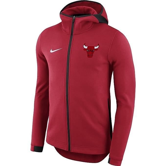 Nike NBA Chicago Bulls 2017-2018 Oficial Dry Showtime, Sudadera Técnica con Capucha: Amazon.es: Ropa y accesorios