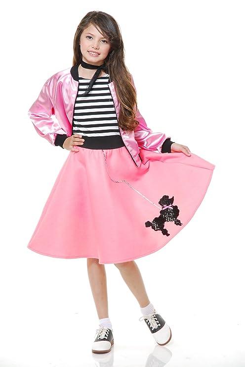 Amazoncom Charades Childs Costume Poodle Skirt With Elastic