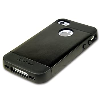 best service 340eb 26ece JETech TPU Case for Apple iPhone 4 and iPhone 4s, Black