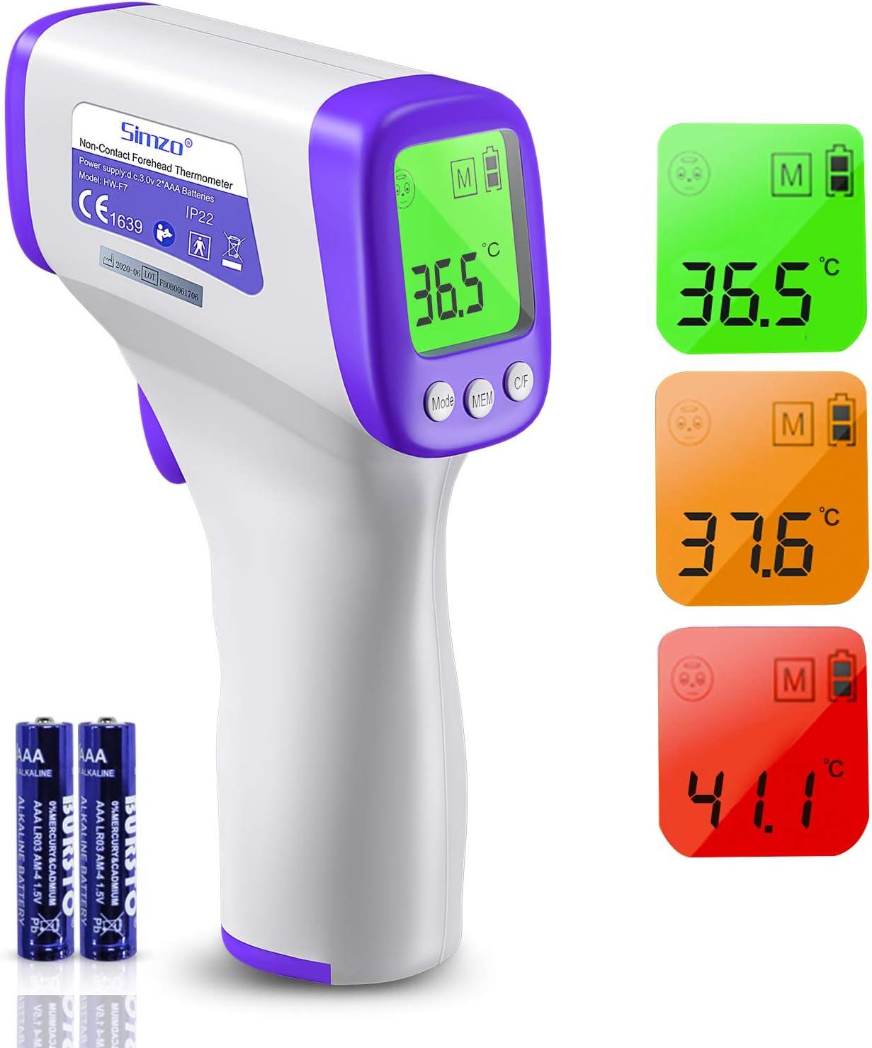 Fieberthermometer Stirnthermometer, Boriwat Infrarot Thermometer kontaktlos