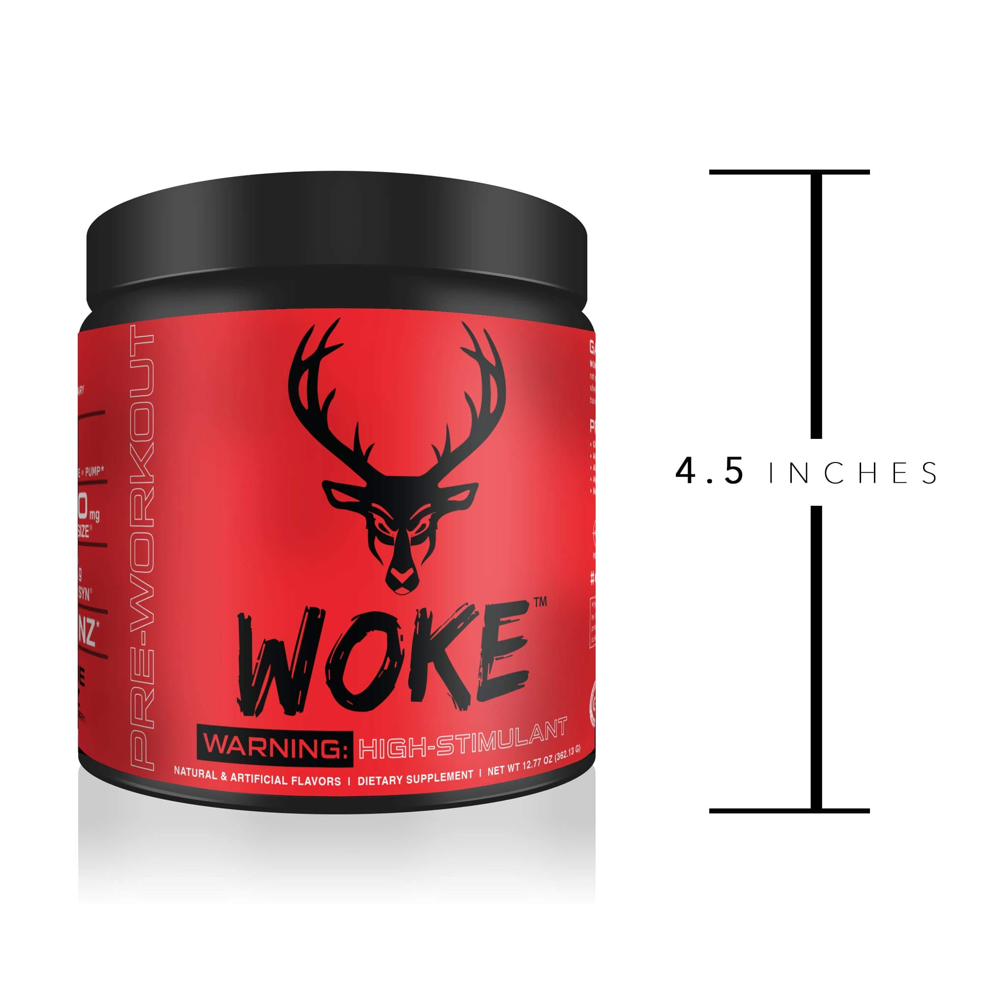 Bucked Up - Woke - HIGH STIM Pre Workout - Best Tasting - Focus Nootropic, Pump, Strength and Growth, 30 Servings (Blood Raz) by BUCKED UP (Image #8)