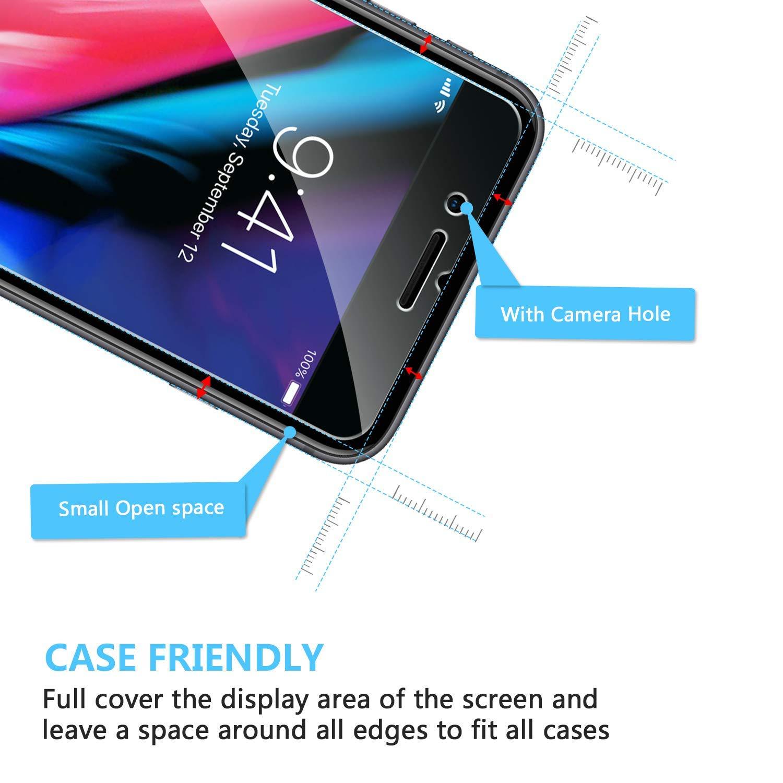 SPARIN [2-Pack] Protector Pantalla iPhone 7 Plus/iPhone 8 Plus, Cristal Templado iPhone 7/8 Plus, Vidrio Templado con [Alta Definición] [9H Dureza] ...
