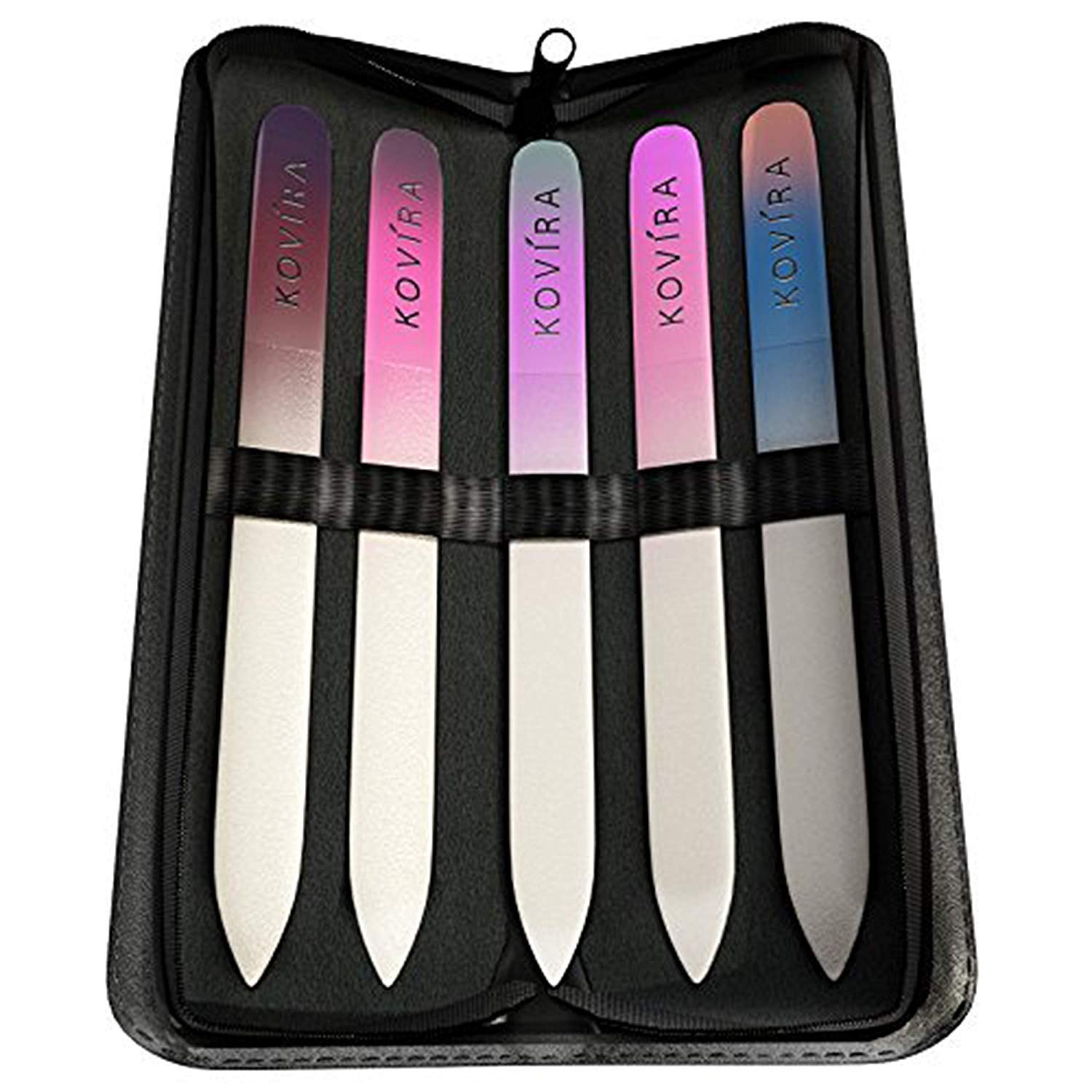 Amazon.com: Nail File Set - Professional Double Sided Crystal Nail ...