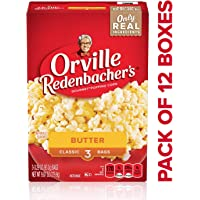 Orville Redenbacher's Butter Popcorn, Classic Bag, 3 Count per Box, 9.87 Oz, Pack of 12